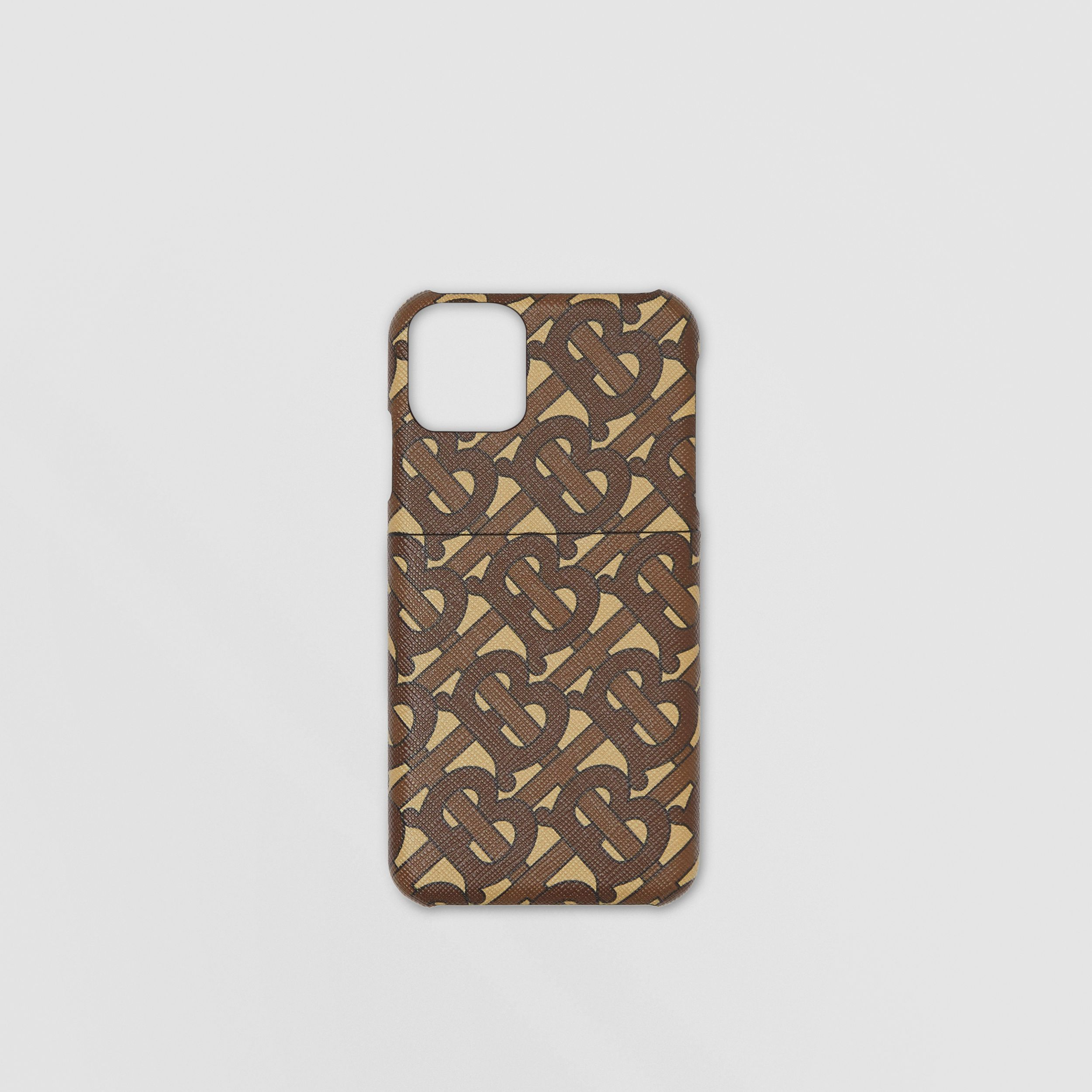 Monogram Print E-canvas iPhone 11 Pro Case in Bridle Brown - Men | Burberry - 1