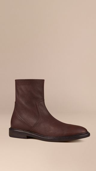 Bottines en cuir de cerf