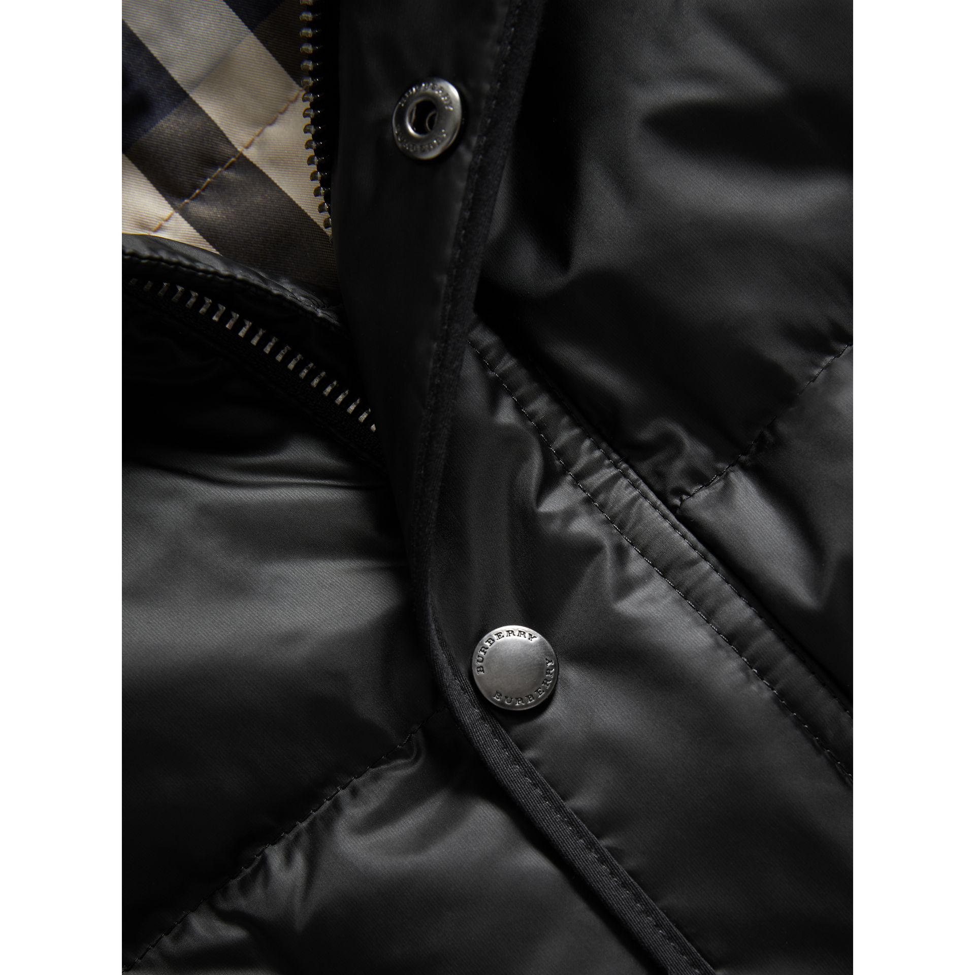 Down-filled Hooded Gilet in Black - Boy | Burberry Canada - gallery image 2