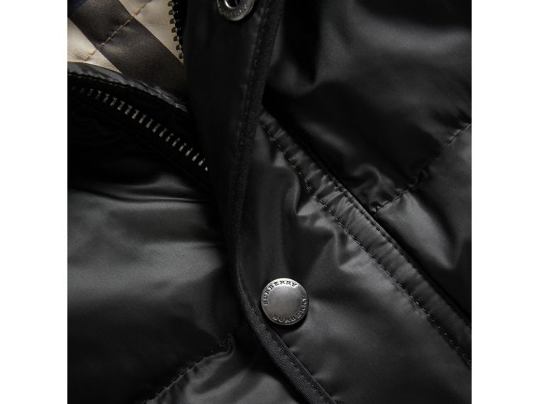 Down-filled Hooded Gilet in Black - Boy | Burberry Canada - cell image 1