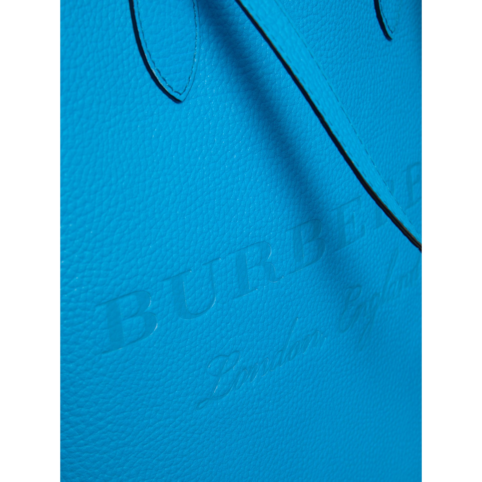 Embossed Leather Tote in Neon Blue | Burberry United Kingdom - gallery image 1