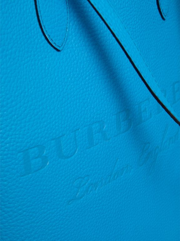 Embossed Leather Tote in Neon Blue | Burberry - cell image 1