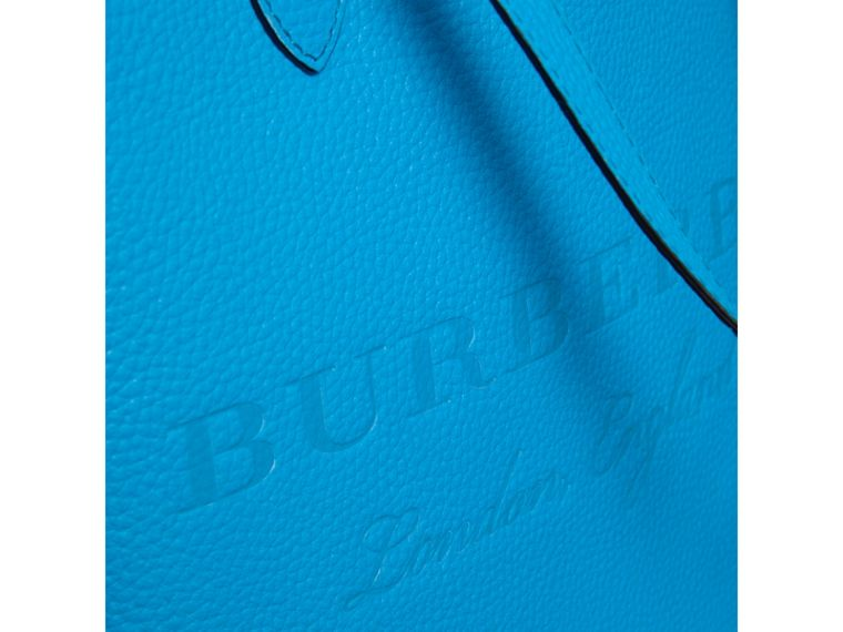 Embossed Leather Tote in Neon Blue | Burberry Singapore - cell image 1