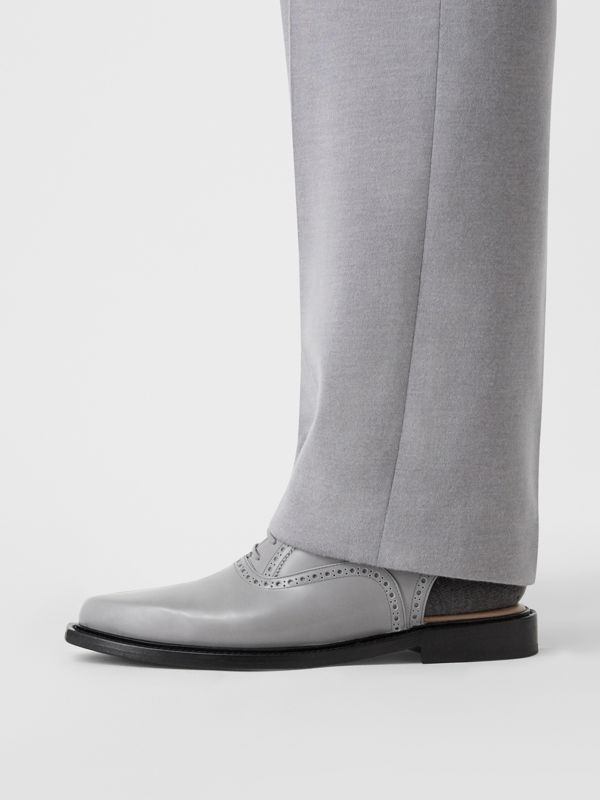 Leather Slingback Oxford Brogues in Cloud Grey | Burberry Canada - cell image 2