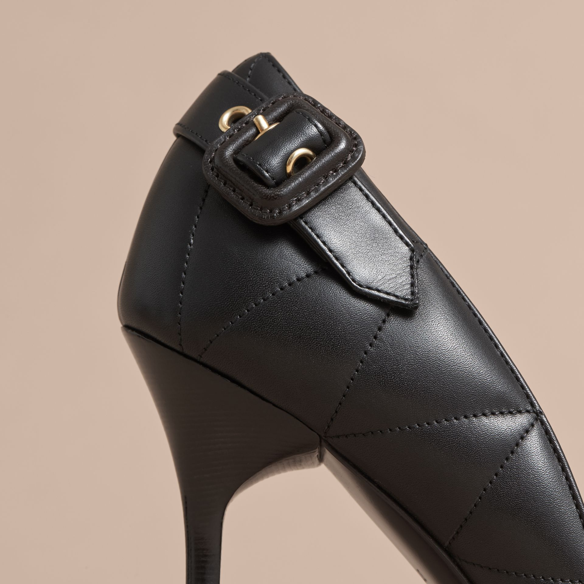 Quilted Leather D'Orsay Pumps - Women | Burberry - gallery image 2