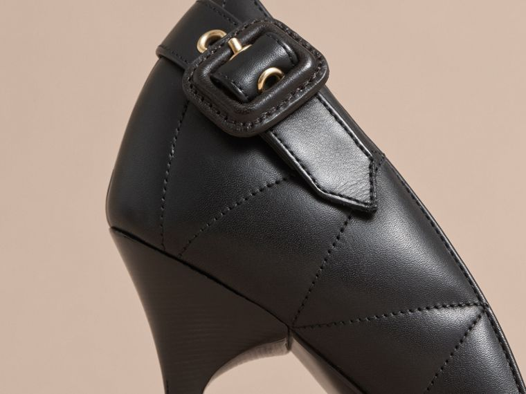 Quilted Leather D'Orsay Pumps in Black - Women | Burberry - cell image 1