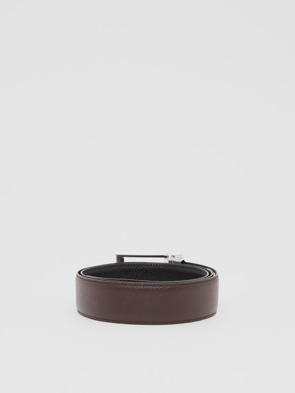 Reversible Grainy Leather Belt in Black/chocolate - Men   Burberry United States - cell image 3