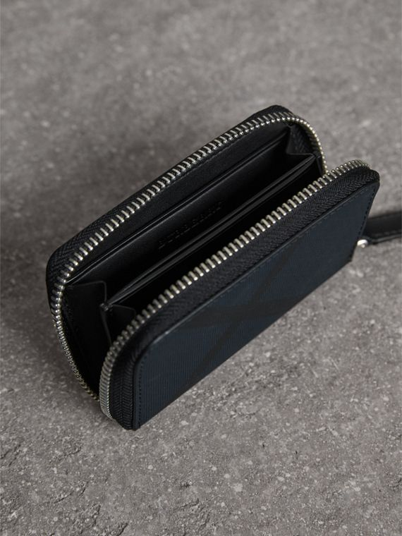 London Check Ziparound Coin Case in Navy/black - Men | Burberry Canada - cell image 3