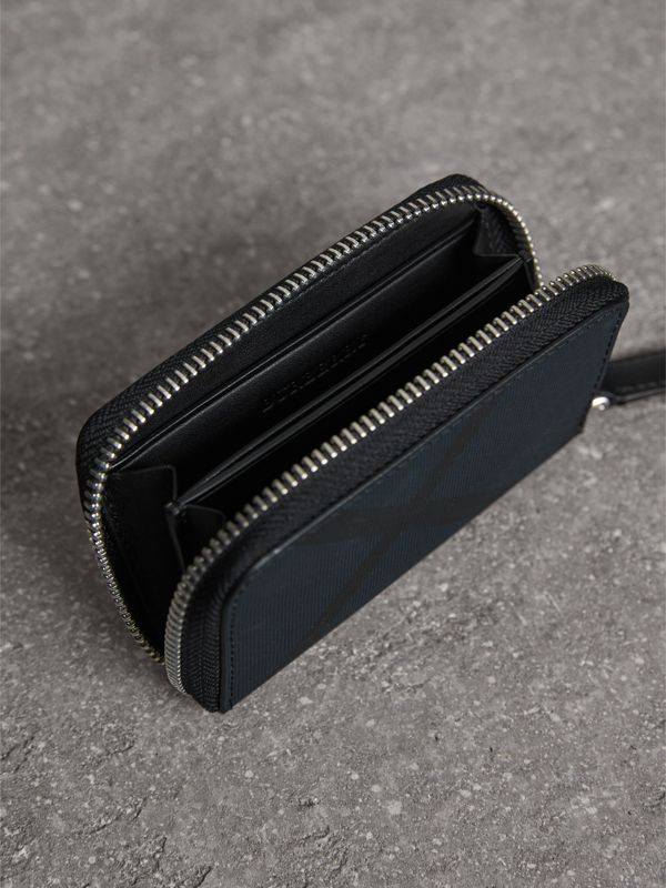 London Check Ziparound Coin Case in Navy/black - Men | Burberry - cell image 3