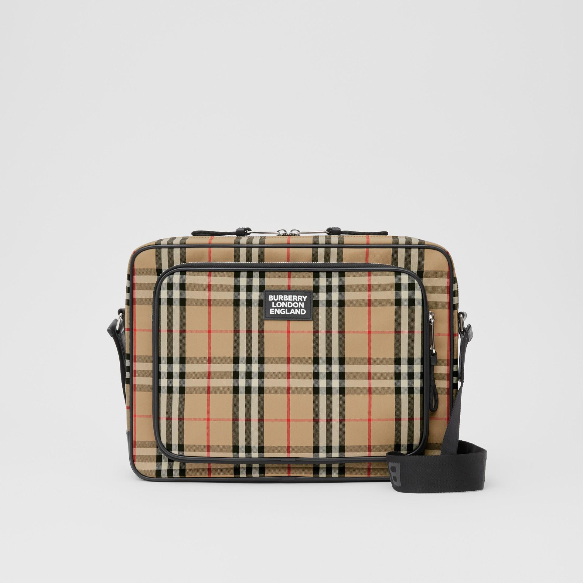 Vintage Check Cotton Messenger Bag in Archive Beige - Men | Burberry - gallery image 0