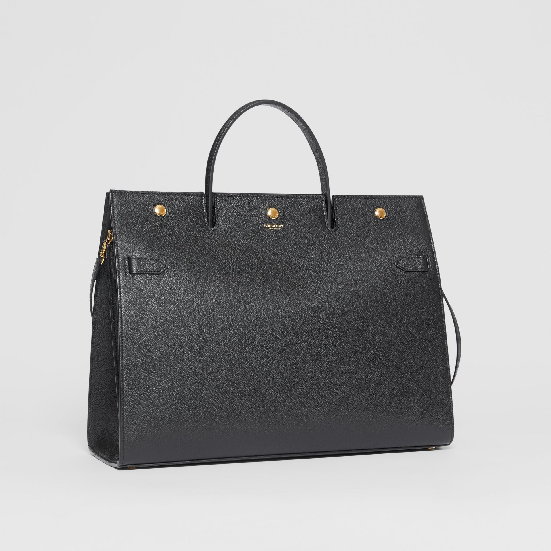 Grand sac Title en cuir (Noir) - Femme | Burberry - photo de la galerie 6