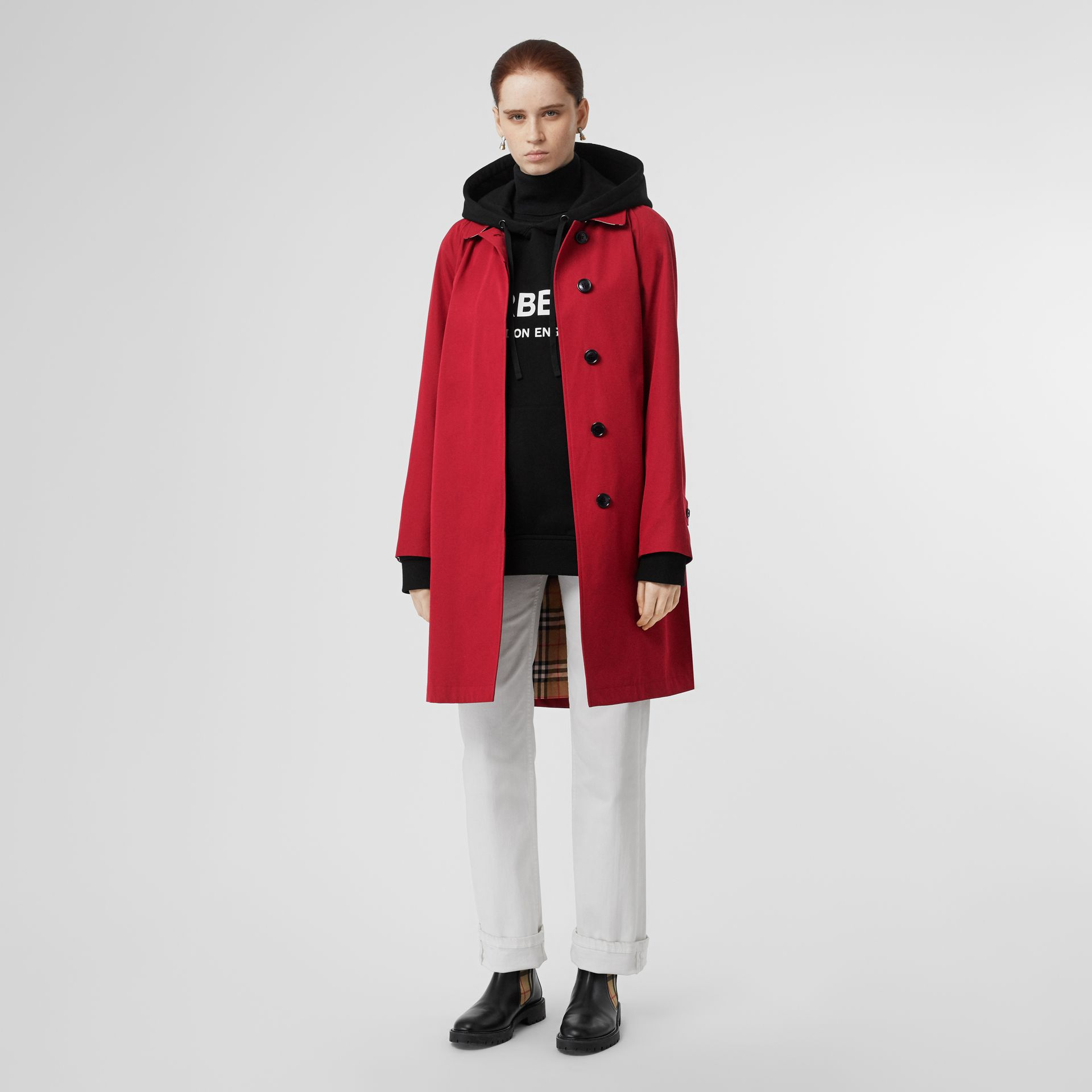 The Camden Car Coat in Parade Red - Women | Burberry - gallery image 0