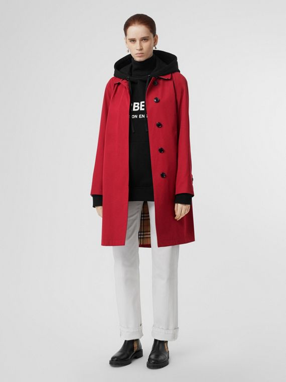The Camden Car Coat in Parade Red
