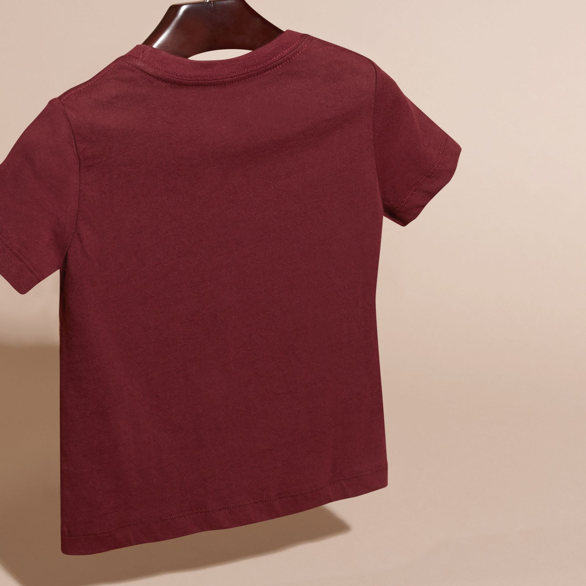Burgundy red Check Pocket T-Shirt Burgundy Red - gallery image 4