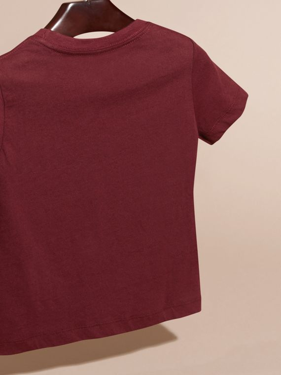 Burgundy red Check Pocket T-Shirt Burgundy Red - cell image 3