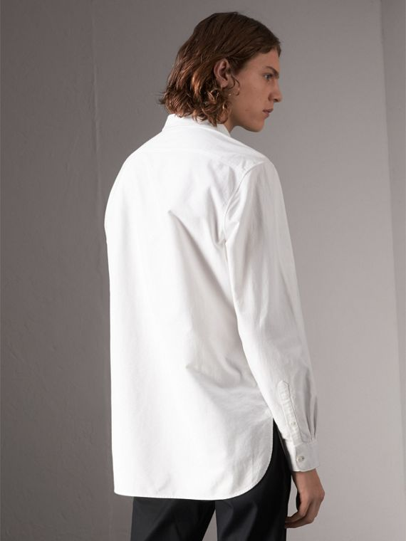 Cotton Oxford Shirt in White - Men | Burberry - cell image 2