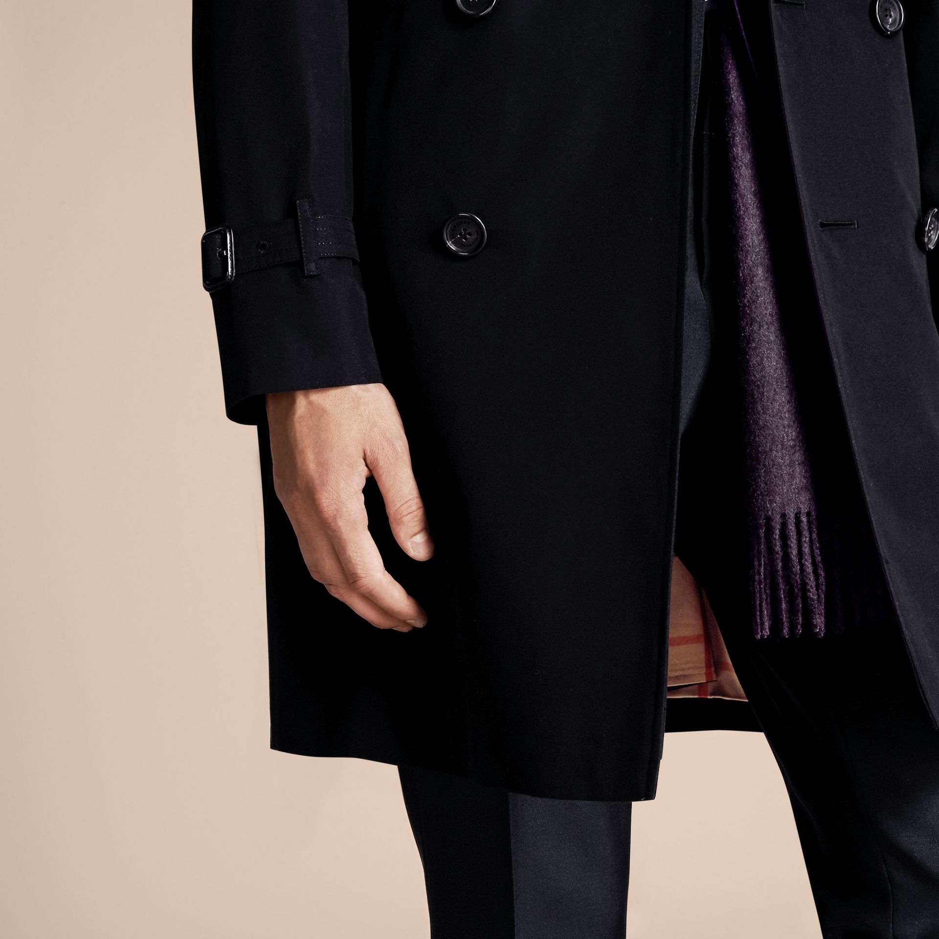 Black The Wiltshire – Long Heritage Trench Coat Black - gallery image 5