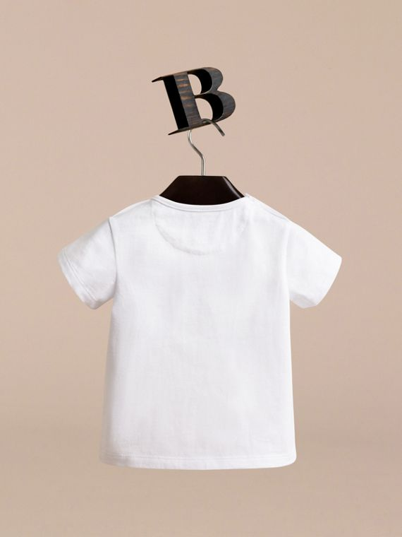London Icons Print Cotton T-shirt | Burberry - cell image 3