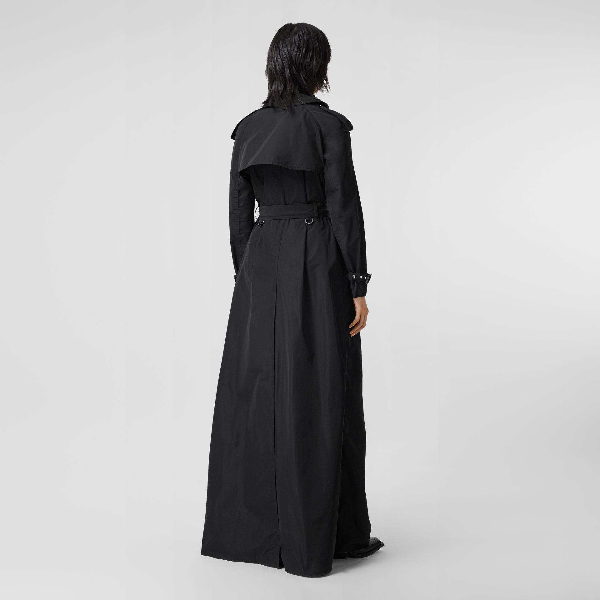 Extra Long Shape-memory Taffeta Trench Coat in Black - Women | Burberry - gallery image 2