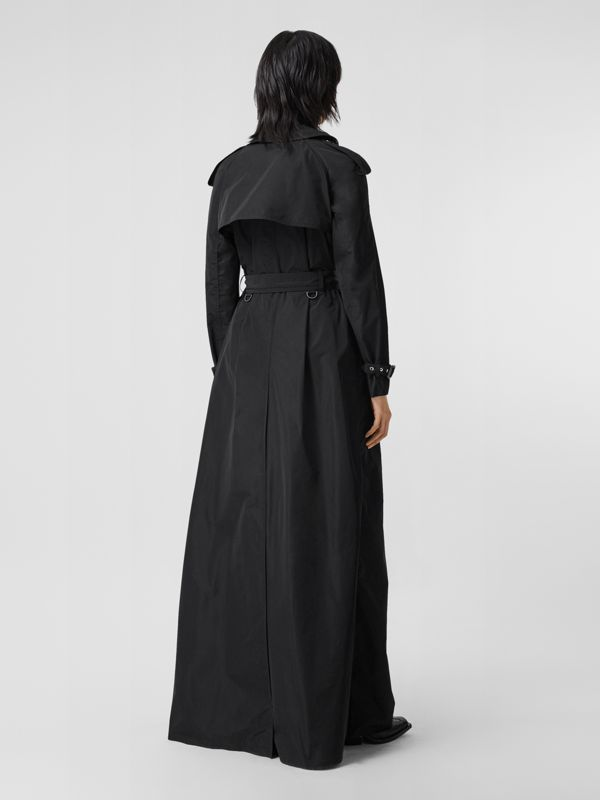 Extra Long Shape-memory Taffeta Trench Coat in Black - Women | Burberry - cell image 2