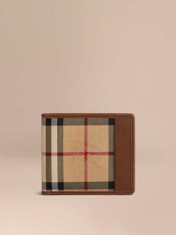 Horseferry Check International Bifold Wallet in Tan - Men | Burberry Australia