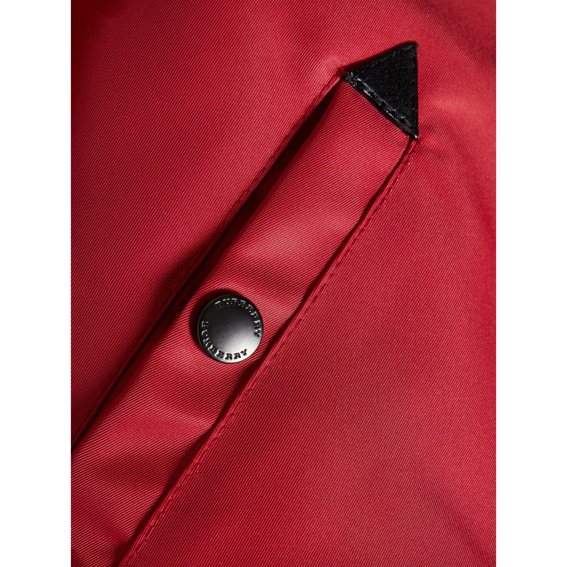 Colour Block Lightweight Bomber Jacket in Coral Red - Boy | Burberry - gallery image 1