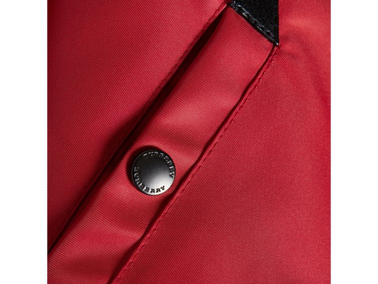 Colour Block Lightweight Bomber Jacket in Coral Red - Boy | Burberry United Kingdom - cell image 1