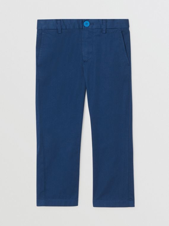 Cotton Chinos in Bright Navy