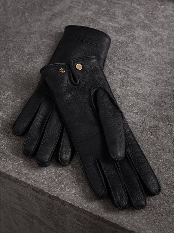 Deerskin Gloves in Black - Women | Burberry Singapore - cell image 2
