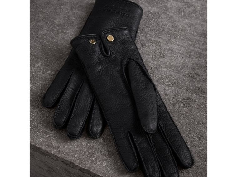 Deerskin Gloves in Black - Women | Burberry Canada - cell image 2