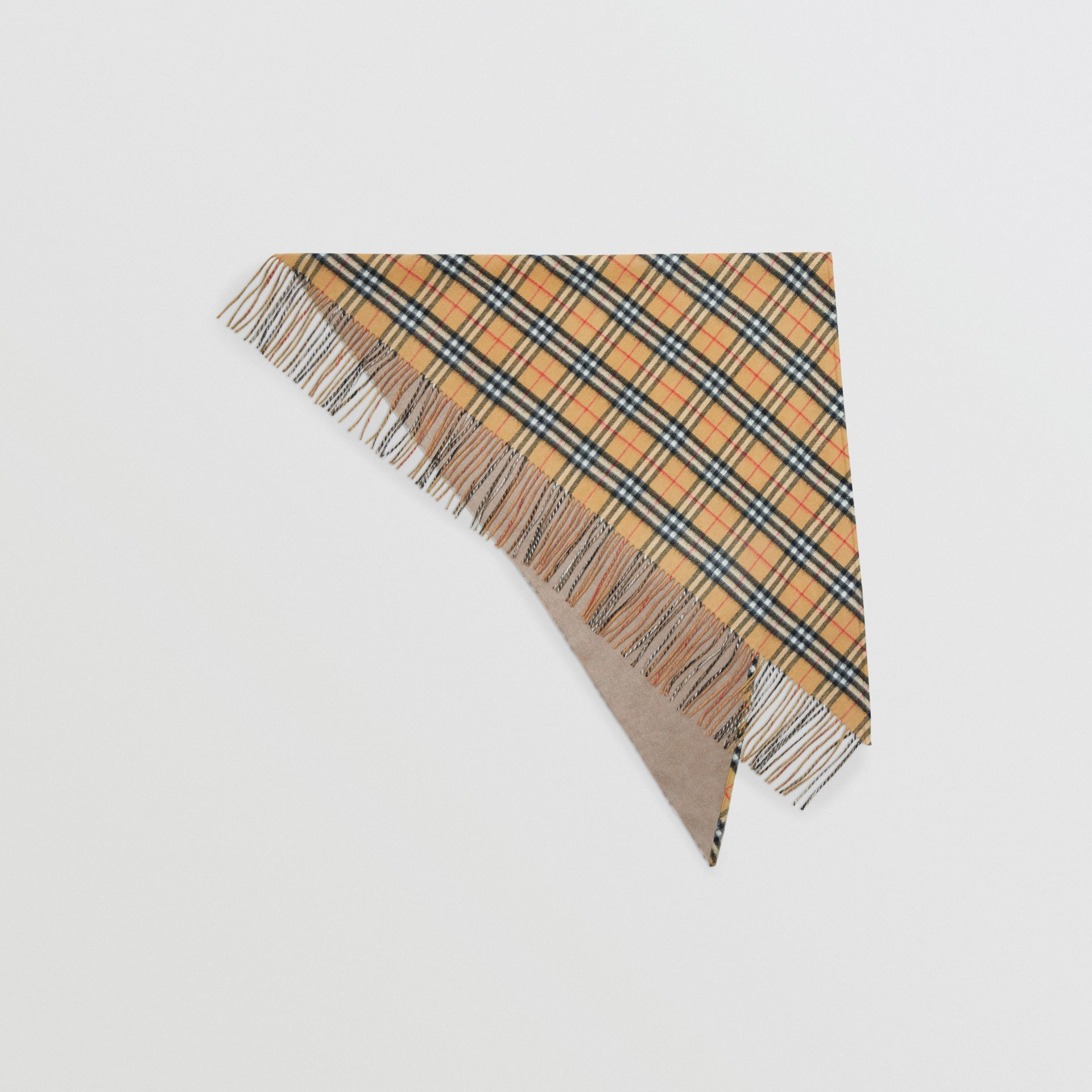 The Burberry Bandana in Vintage Check Cashmere in Sandstone | Burberry Australia - gallery image 0