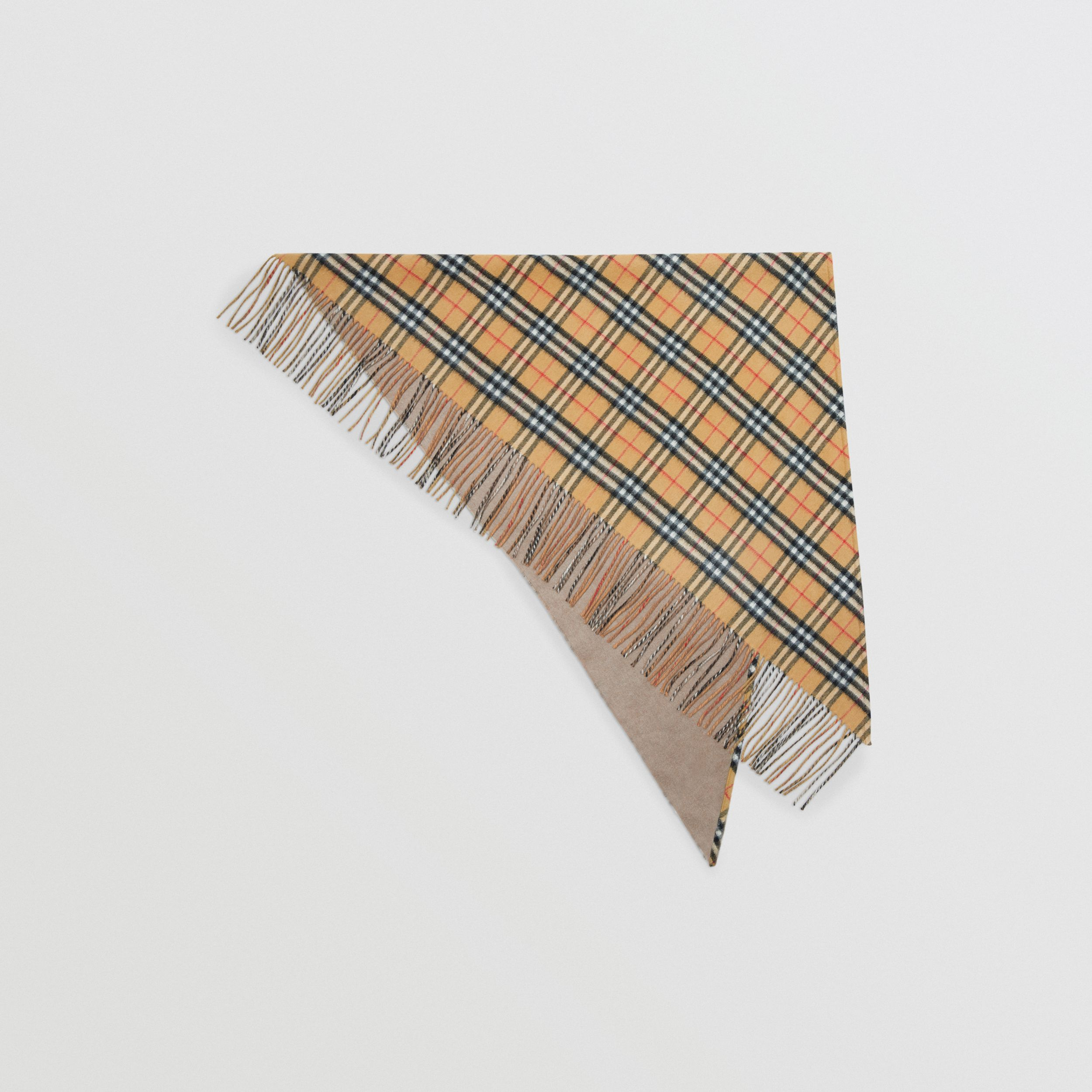 The Burberry Bandana in Vintage Check Cashmere in Sandstone - Men | Burberry Singapore - 1
