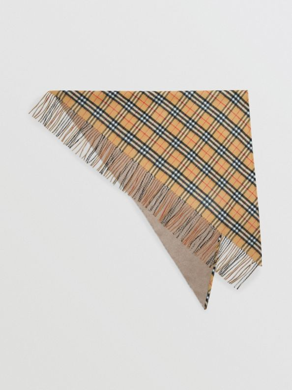 The Burberry Bandana in Vintage Check Cashmere in Sandstone