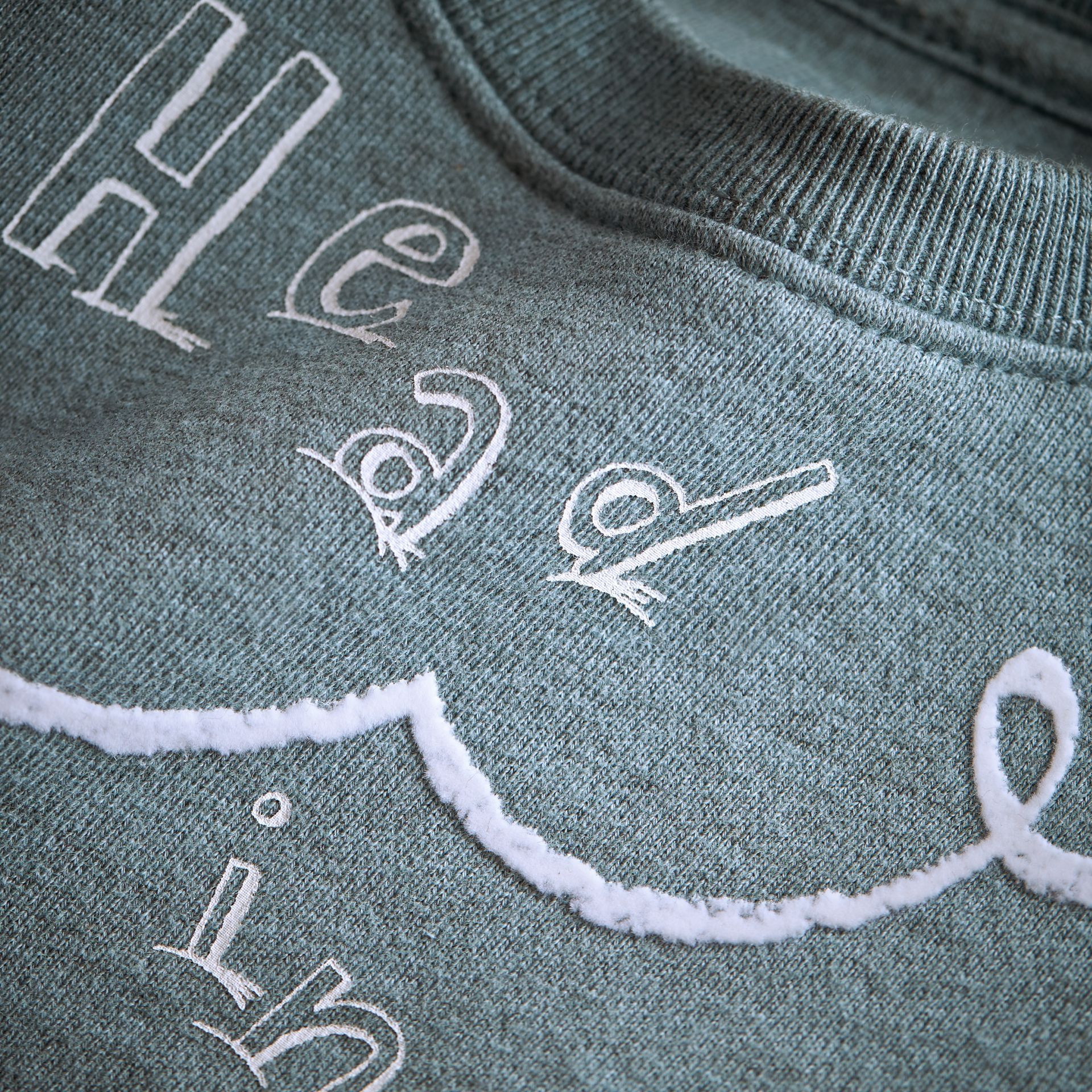 Head in the Clouds Print Cotton Sweatshirt in Powder Blue | Burberry - gallery image 1