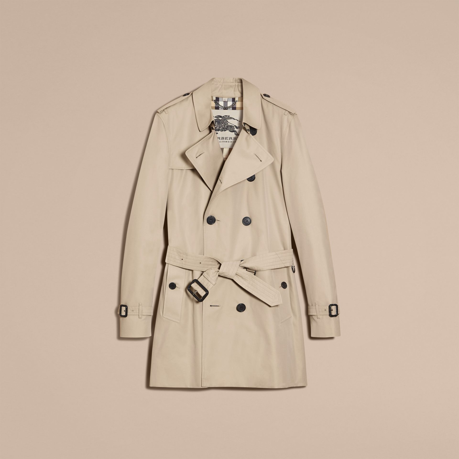 Stone The Kensington – Mid-Length Heritage Trench Coat Stone - gallery image 4