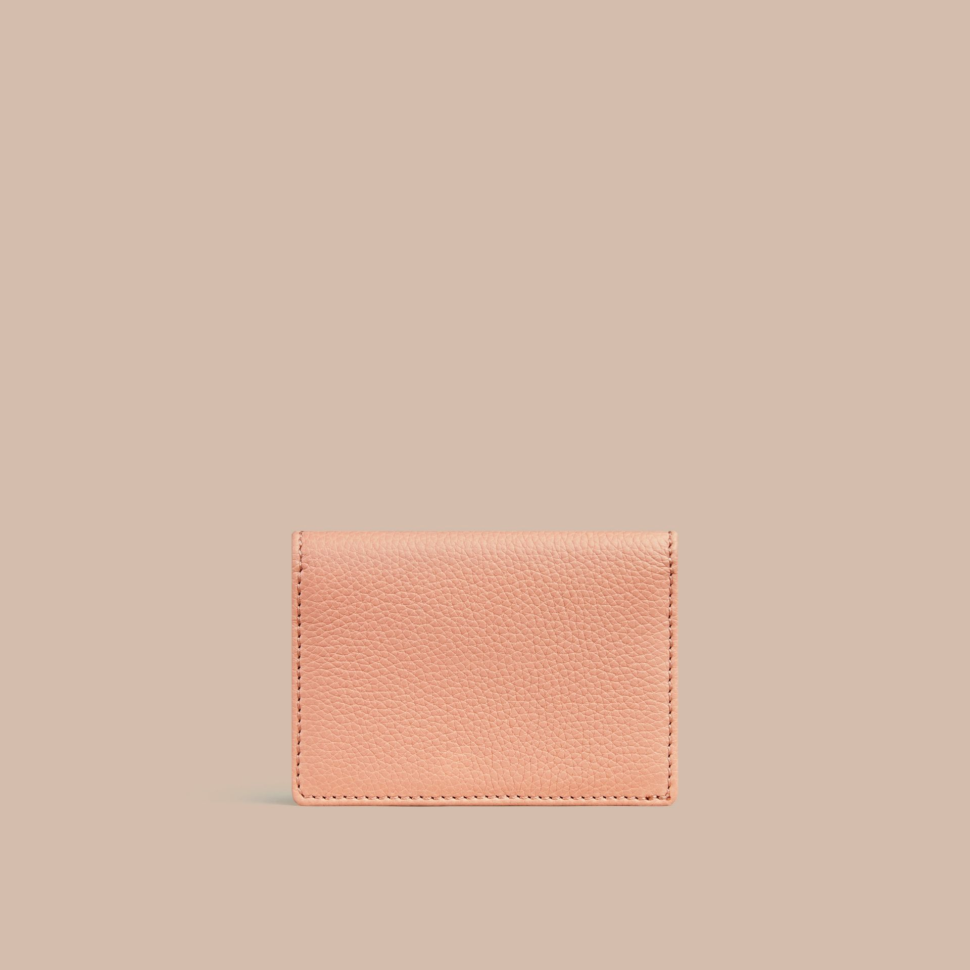 Pink apricot Grainy Leather Card Case Pink Apricot - gallery image 3