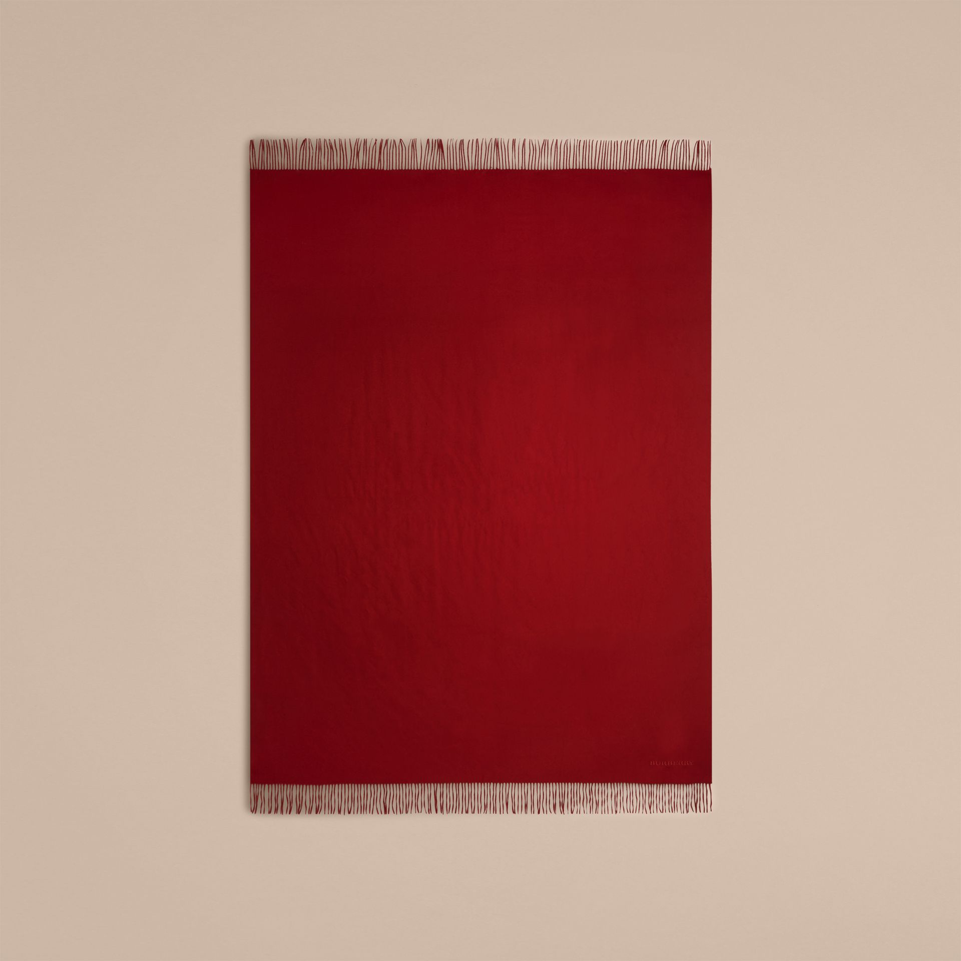 Cashmere Blanket in Parade Red | Burberry Australia - gallery image 3