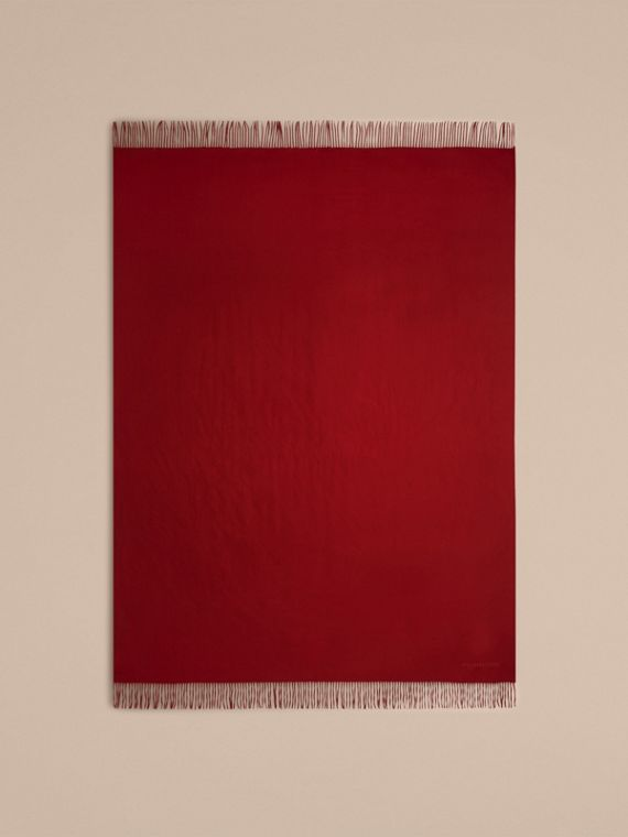 Cashmere Blanket in Parade Red | Burberry Australia - cell image 2