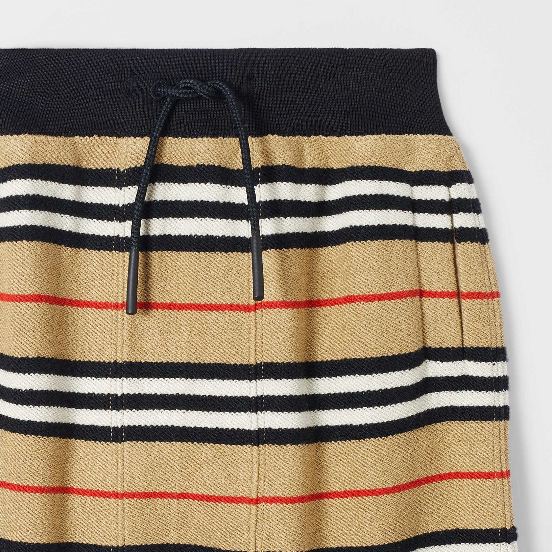 Icon Stripe Cotton Track Top in Archive Beige - Children | Burberry - gallery image 5