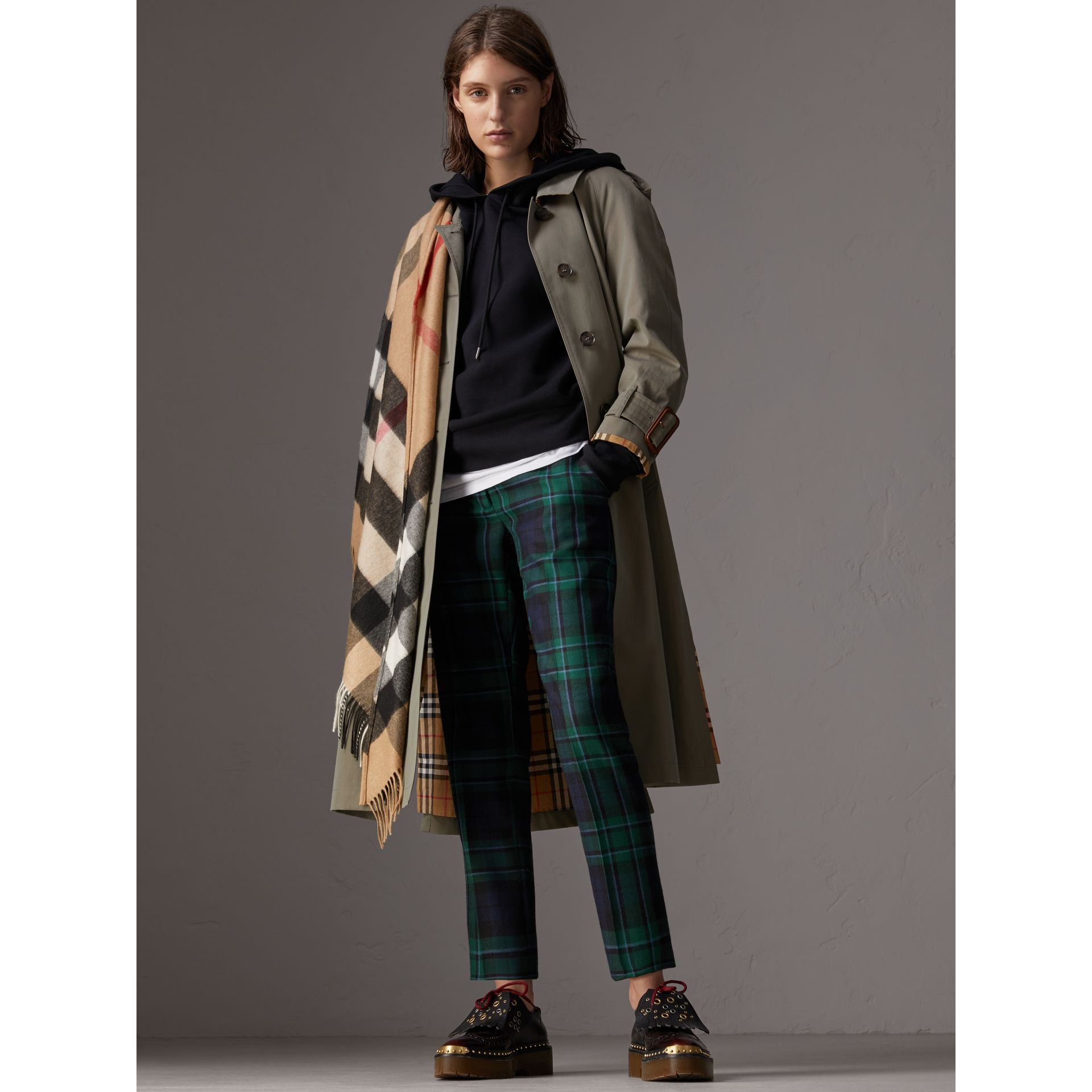 The Burberry Bandana in Check Cashmere in Camel | Burberry - gallery image 2