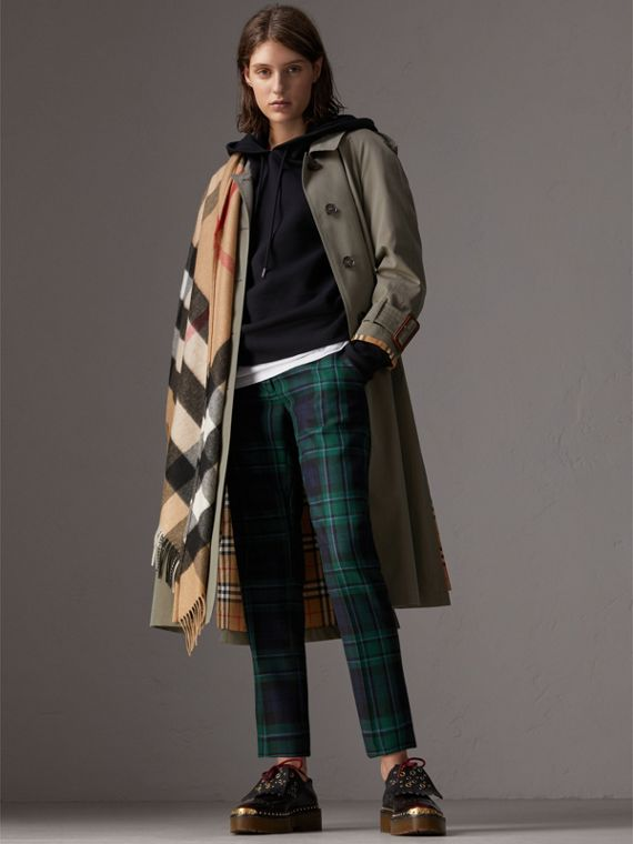 The Burberry Bandana in Check Cashmere in Camel | Burberry Canada - cell image 2