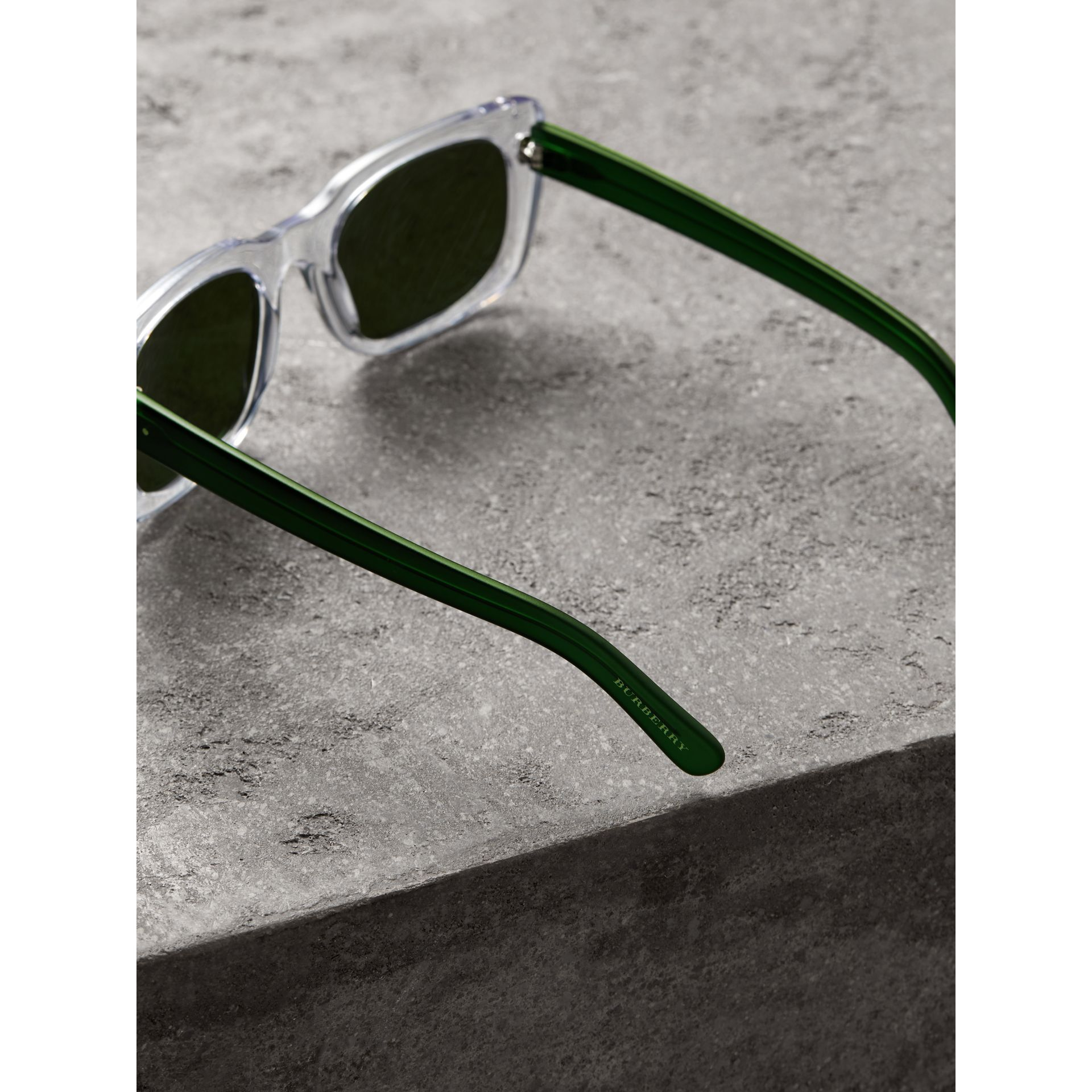 Square Frame Sunglasses in Crystal - Women | Burberry United States - gallery image 3