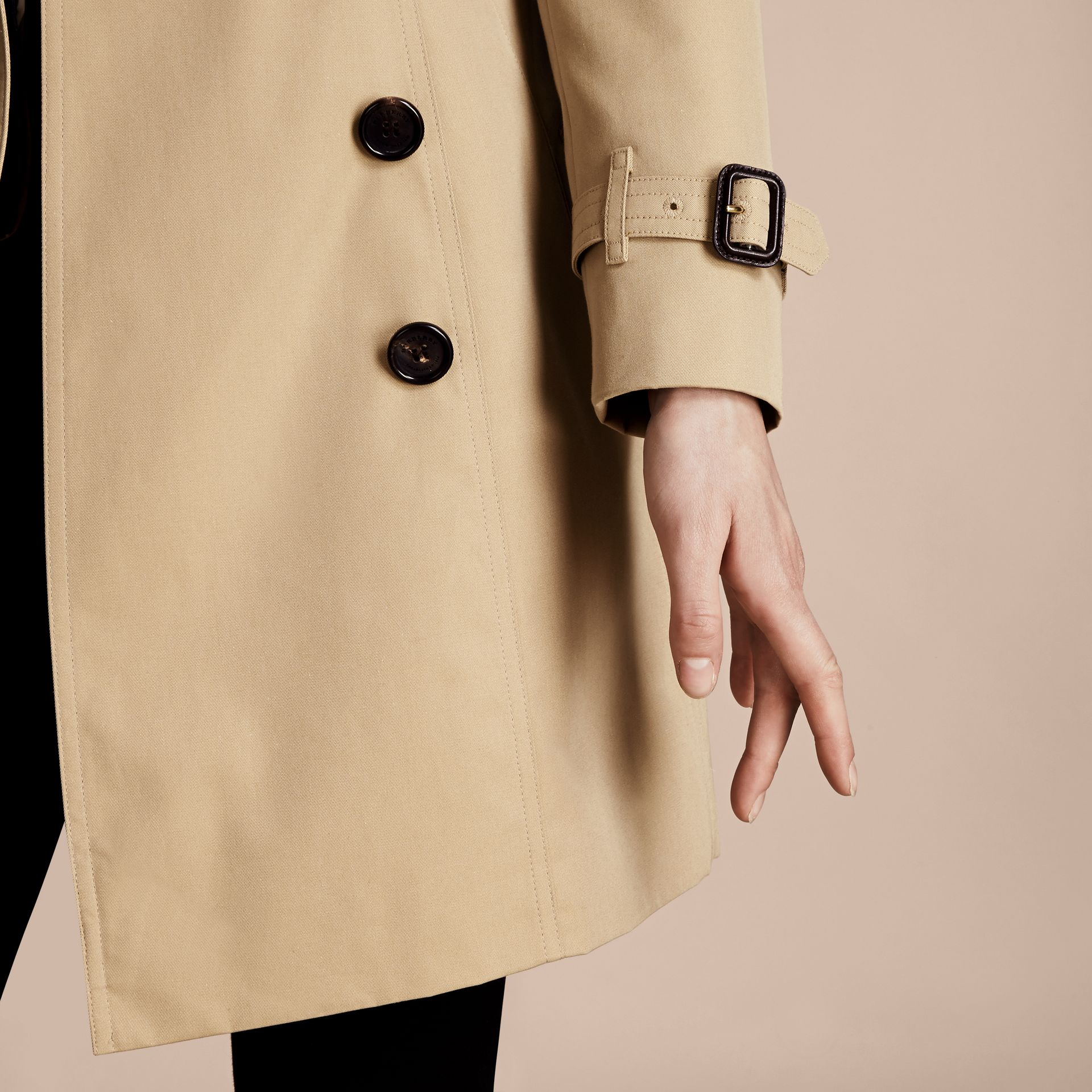 Honey The Chelsea – Mid-length Heritage Trench Coat Honey - gallery image 7
