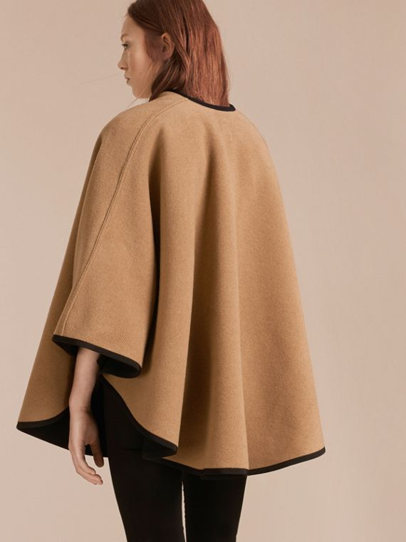 Camel/black Wool Cashmere Military Cape Camel/black - cell image 2
