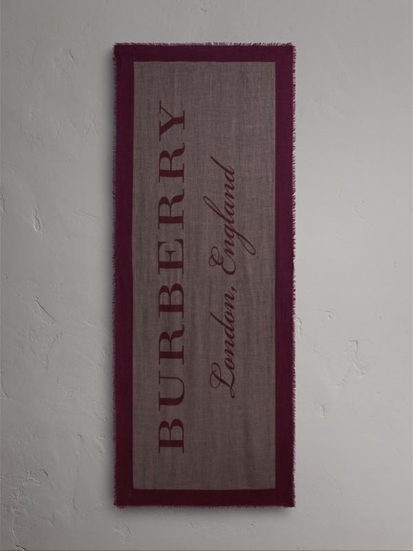 Cachecol leve de cashmere com estampas gráficas (Rosa Bebê) | Burberry - cell image 2