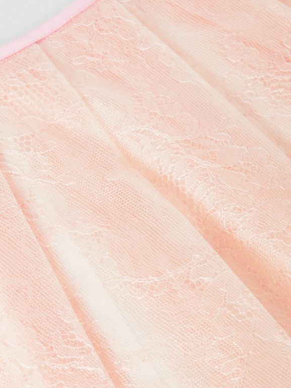 Pleated Laminated Lace Skirt in Pale Pink - Children | Burberry - cell image 1