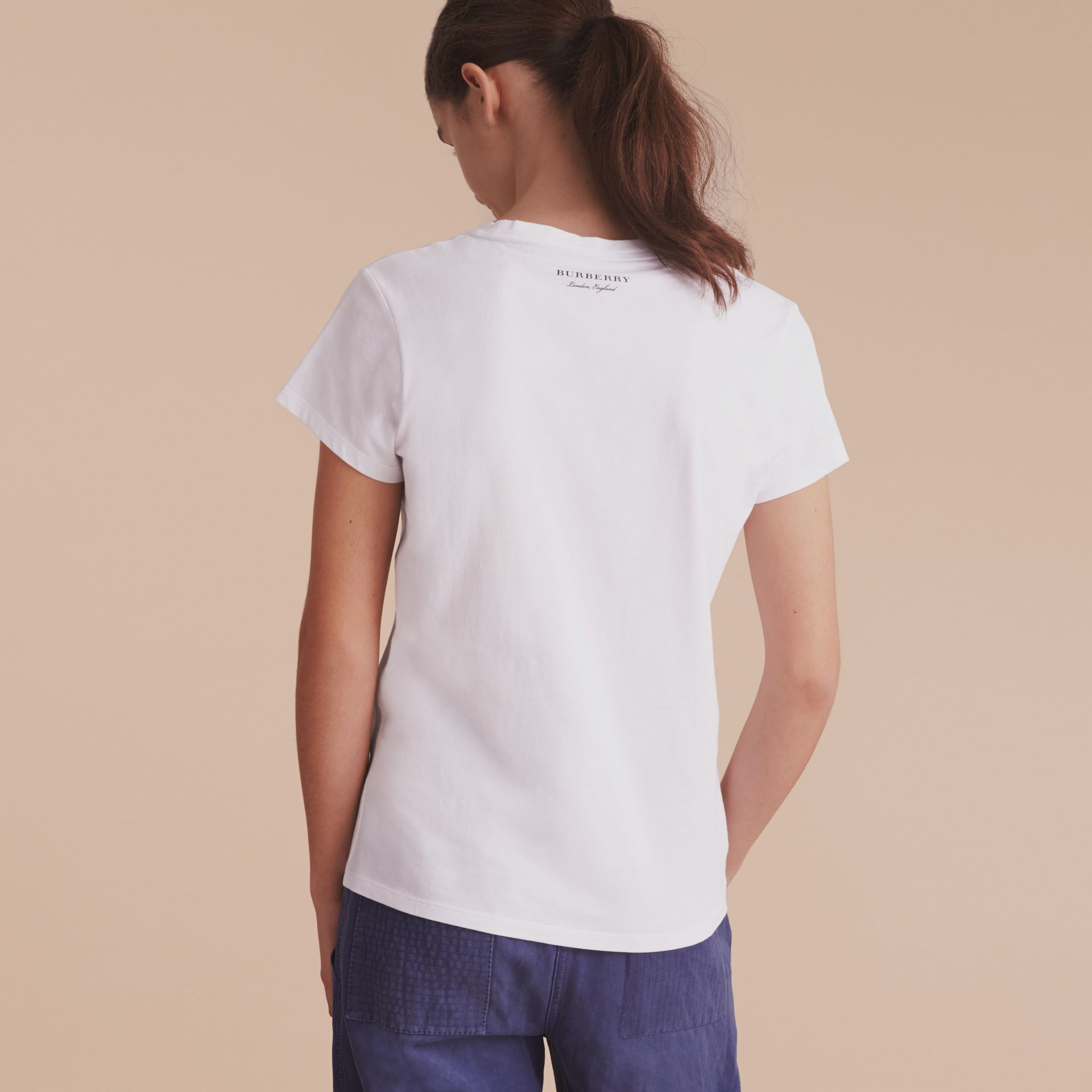 Pallas Heads Print Cotton T-shirt in White - Women | Burberry - gallery image 3