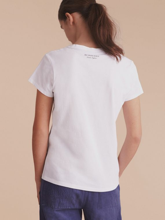 T-shirt in cotone con stampa Pallas Heads (Bianco) - Donna | Burberry - cell image 2