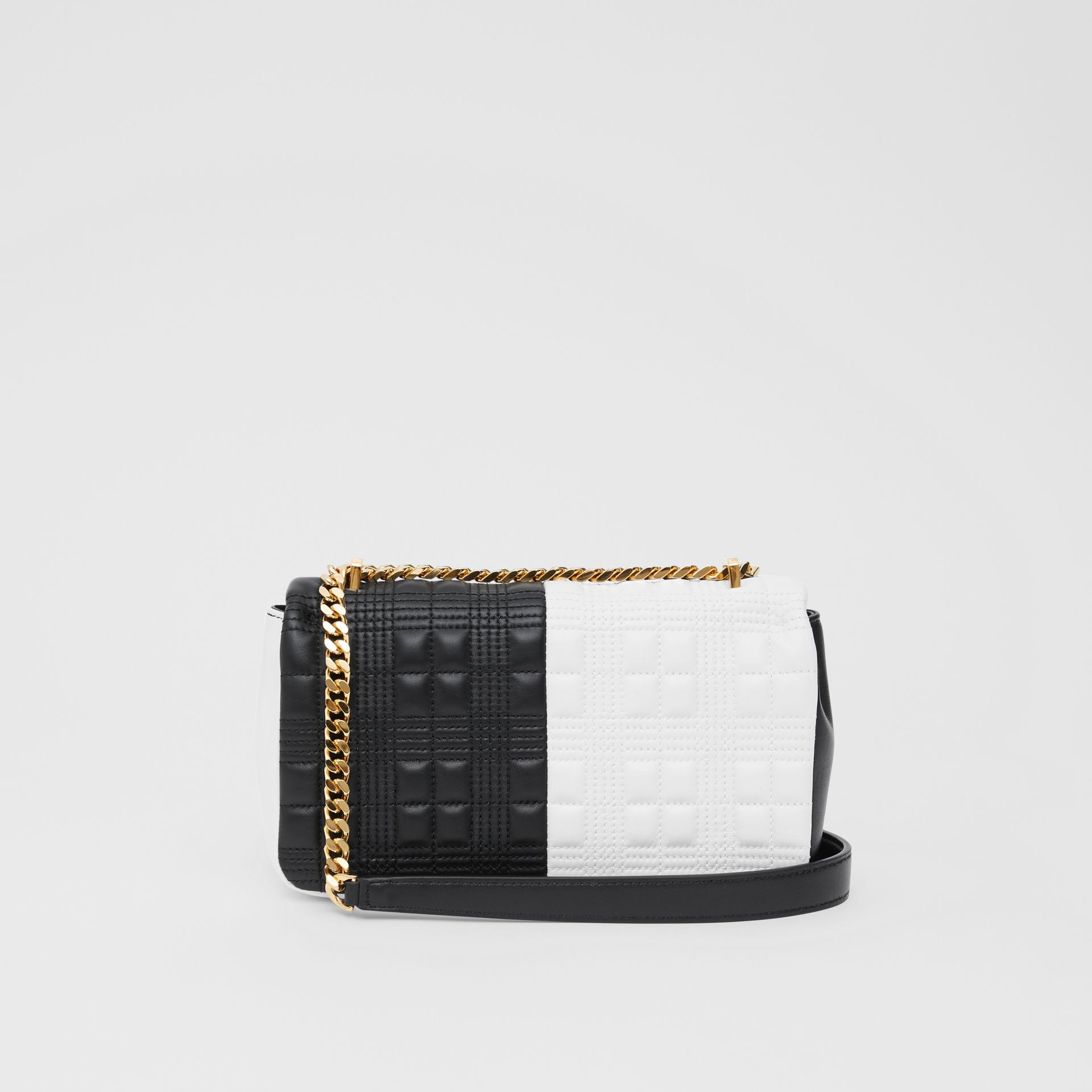 Small Quilted Two-tone Lambskin Lola Bag in White/black - Women | Burberry United Kingdom - gallery image 7