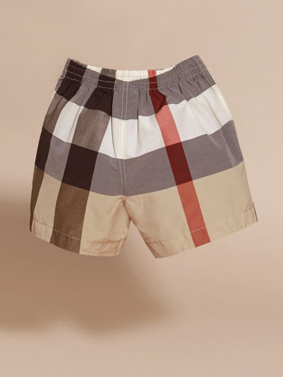Check Technical Cotton Swim Shorts | Burberry - cell image 3